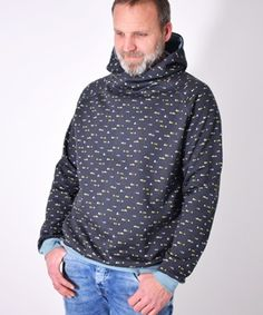 Perfecting Sew A T-shirt for Men Ideas. Immaculate Sew A T-shirt for Men Ideas. Hoodie Sweatshirts, Sweater Hoodie, Men Sweater, Hoodies, Easy Sewing Patterns, Easy Sewing Projects, Clothing Patterns, Sewing Ideas, Love Sewing
