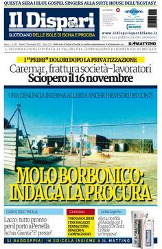 La copertina del 07 novembre 2015 #ischia #ildispari