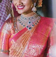 Jewellery Earrings, Temple Jewellery, Diamond Jewellery, Diamond Earrings, Necklace Designs, Jewellery Designs, Gold Bangles Design, Latest Jewellery, Saree Blouse Designs