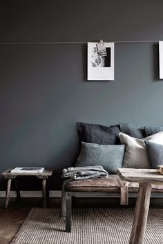 50 shades of gray  Add a cool contemporary look to your house with the color gray. Don't think  of gray as depressing but a great backdrop to make other colors stand out.  The color gray also allows wood tones to pop and can create a glamorous  look.  Viva la vida and do it with ESTILO!  J