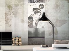 Vinyl wallpaper ALABASTER Traces Collection by GLAMORA