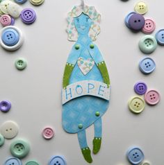 Hope Paper Doll Jointed Paper doll Paper Doll by JuliaPeculiar
