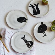 Pin for Later: 50 Pieces of Dinnerware and Decor Guaranteed to Get Your Table in the Spring Spirit  Painted Animal Plates Set of 4 ($39)