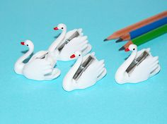 Cute little swan pencil sharpeners :)