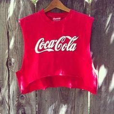 Coca cola crop top diy