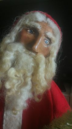 The elves call this the 'creepy look' and always avoid him when they see it......