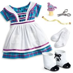 American Girl Addy Sewing Set Dress Outfit 2015 Special Edition Plus Hanger for sale online All American Girl Dolls, African American Girl, Dress Outfits, Girl Outfits, Check Dress, Doll Clothes, Girl Fashion, Summer Dresses, Dress Sewing