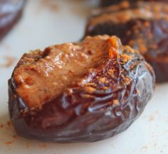 Almond Butter Stuffed Dates