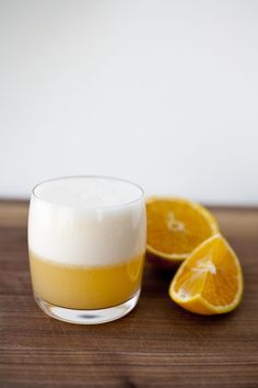 Orange Gin Fizz   Here we go again with the citrus. What can I say, there's a lot of it in the house. @laicie
