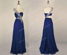 elegant prom dresses long prom dresses royal blue by sofitdress, $129.00