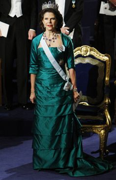 Queen Silvia wore this tiara for the 2010 Nobel Prize Ceremony and Dinner.