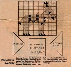 Donkey block pattern from Kansas City Star Newspaper 1931  I have two blocks and they look authentic to the time period.