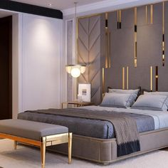 luxury furniture The most beautiful luxury and modern bedroom ideas - Page 2 decoration Master Bedroom Interior, Luxury Bedroom Design, Bedroom Furniture Design, Master Bedroom Design, Home Interior, Luxury Furniture, Bedroom Decor, Interior Design, Bedroom Lighting