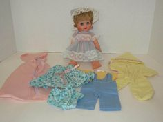 Vintage 1950's 60's Kellogg's Cereal Premium Baby Chris Doll w/ Original Outfits #Kelloggs #DollswithClothingAccessories