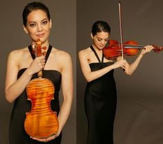 Anne Akiko Meyers with the Royal Spanish Stradivarius violin Photograph by Anthony Parmelee