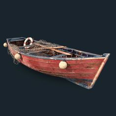 Game Props, Old Boats, Model Look, 3d Artwork, Fishing Boats, Paddle, Boating, Concept, Boats