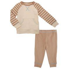 "Koala Baby Organic Boys' 2 Piece Tan/Beige Raglan Long Sleeve Top and Pants Playwear Set - Babies R Us  - Babies""R""Us"