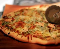 Perfect Pizza Crust and Roasted Garlic Chicken Pesto Pizza