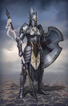 The Human Knight Spearman (or Armored Hoplite Fighter)
