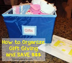 How to organize gift giving and save $$$