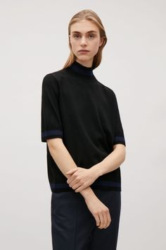 COS image 1 of Top with rib details in Black