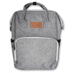 Grey Nappy bag and backpack Nappy Backpack, Backpack Bags, Grey Backpacks, Shoulder Sling, Changing Mat, Tacos, Kids, Young Children, Boys