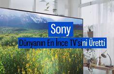 Sony Bravia X9000c modeli dünyanın en ince televizyonu ünvanıyla CES 2015 fuarında görücüye çıktı. Bu cihaz sizi kendisine hayran bırakacak.