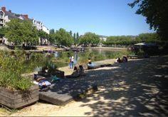 Prendre le #soleil sur les bords de l'Erdre à #Nantes
