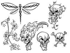 Basic Easy Tattoo Outlines