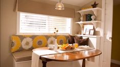 This three piece breakfast nook can help brighten up your space or fit in nicely with a dominantly white color scheme. Nook Ideas, Built In Nook, Diy Breakfast Nook Bench, Ideas, Breakfast Nook Ideas Ikea Kitchen Bench, Kitchen Nook Bench, Dining Nook, Kitchen Decor, Kitchen Ideas, Design Kitchen, Home Design, Design Ideas, Storage Bench With Baskets