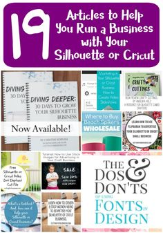 19 Posts to Help You Run a Business with Your Silhouette or Cricut Awesome info! If you want to run a business with your Silhouette Cameo or Cricut Explore, you must check out cuttingforbusines…. Silhouette Cameo Tutorials, Silhouette Projects, Silhouette Design, Silhouette Curio, Silhouette Files, Diy Cutting Board, Vinyl Cutting, Die Cutting, Cutting Files