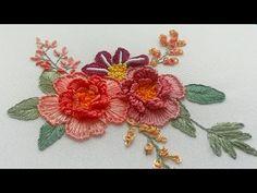Объёмная Вышивка : Шелковые Цветы | Новый Дизайн - YouTube Blouse Pattern Free, Free Pattern, Brazilian Embroidery, Large Flowers, Baby Knitting Patterns, Silk Ribbon, News Design, Hand Embroidery, Needlework