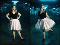 Instructables: Elastic tulle skirt