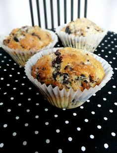 Recipe for Chocolate Chip Oreo Muffin. I made this with half whole wheat and half all purpose flour. They were a little dry, but still good
