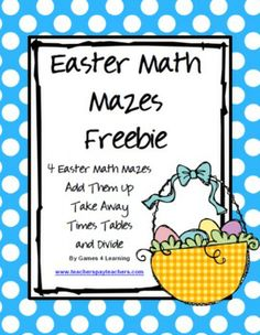 FREEBIE - Easter Math Mazes from Games 4 Learning