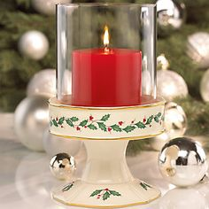 Holiday® Pillar Candle Holder by Lenox