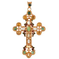 Unique Cross Pendant by Diego Percossi Papi | From a unique collection of antique and modern miscellaneous jewelry at https://www.1stdibs.com/furniture/more-furniture-collectibles/miscellaneous-jewelry/