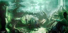 World of Warcraft Concept Art: Shattrath