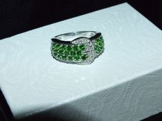 Genuine Russian chrome diopside ring in by RetroRecyclables, $68.00 SOLD