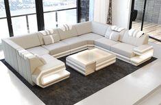 Luxury Sofa San Antonio U Shaped Beige White