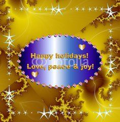 Christmas wishes on sparkling background