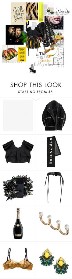 """a fresh new day, a fresh new year..."" by la-rosy ❤ liked on Polyvore featuring Armani Privé, H&M, Fendi, Balenciaga, Jil Sander, Dorothee Schumacher, Cuvée, River Island, Elle Macpherson Intimates and DANNIJO"