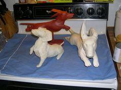 paper mache dog | ... Tales Paper-Mache Hand Made Sculpture Dachshund Dog Custom | eBay
