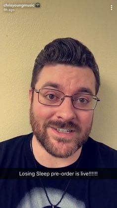 Chris Young with glasses! He is now officially all I have ever wanted in a man!