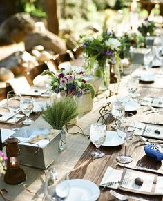"""a """"green"""" tablescape for a wedding or other party.  Isn't it lovely?"""