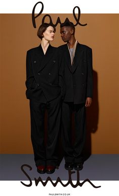 Model George Koh has the honor of fronting Paul Smith's fall-winter 2015 advertising campaign. Photographed by Viviane Sassen alongside beauty Saskia de Brauw, George embodies the often quirky but sophisticated style of the Paul Smith brand. Sporting oversize fashions for the season, George is styled by Jodie Barnes in long coats and relaxed suiting. Related