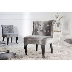 Moderne stoel Boutique zilver - 35340