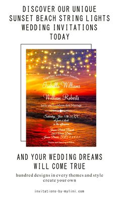 This beach wedding invitation template is part of an editable set of templates with a beach background in a classic sunset style. Personalize your template with your words. Press the order button and your finished beach wedding insoles will be delivered in no time! - beach wedding invitations, beach wedding invitations ideas, sunset wedding invitations, seashore wedding invitations, wedding invitation templates, cheap wedding invitations, wedding invitation design, wedding invitation cards