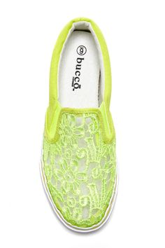 ~ Lace Sneaker, this would be cute in a more bright yellow color!