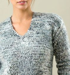 Laine Drops, Easy Knitting, Diy Crochet, Tweed, Men Sweater, Sweaters, Cardigans, Collection, Points